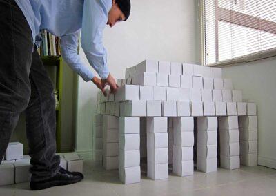 Panteón bloques. Rodrigo Diez