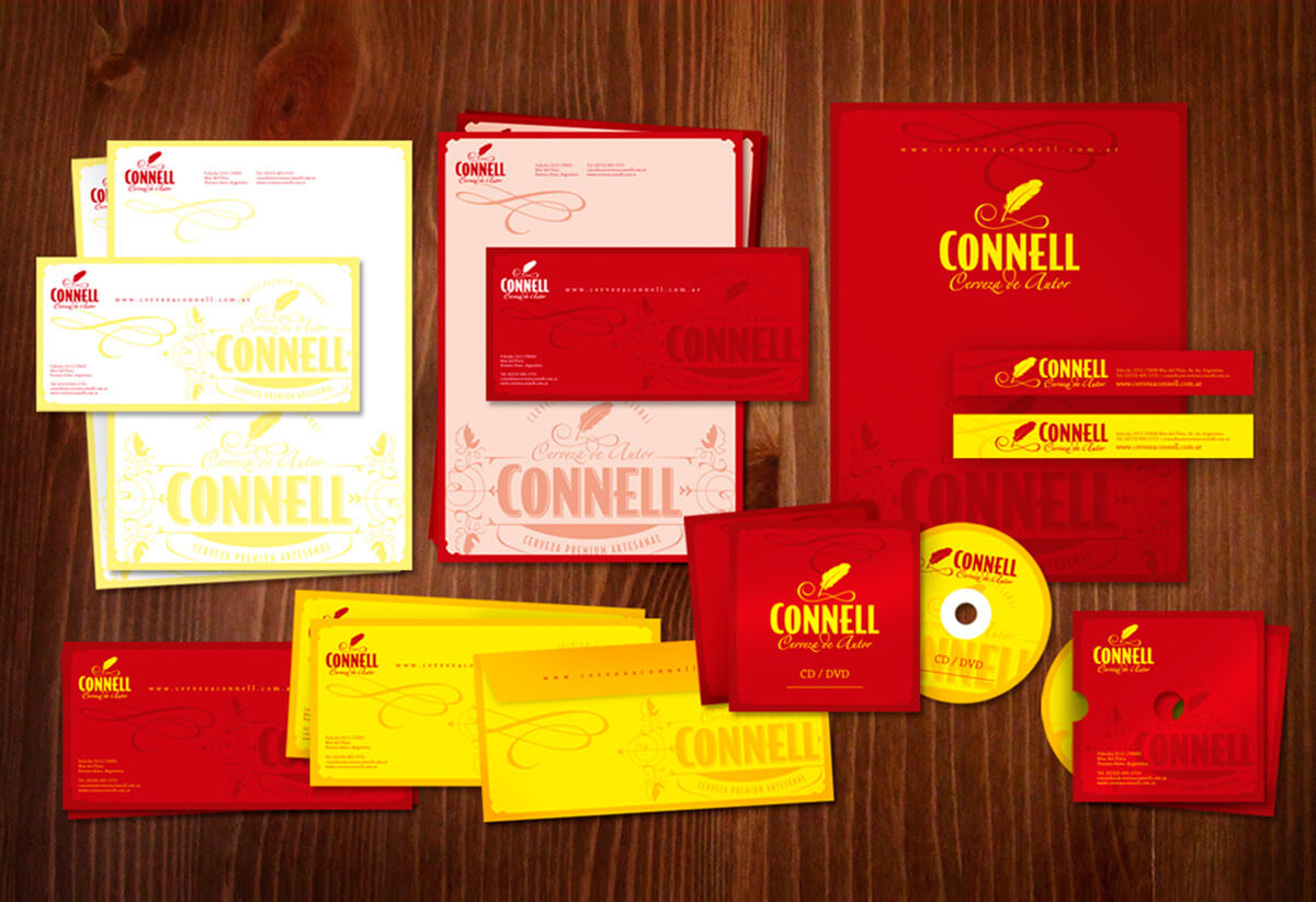connell papeleria branding