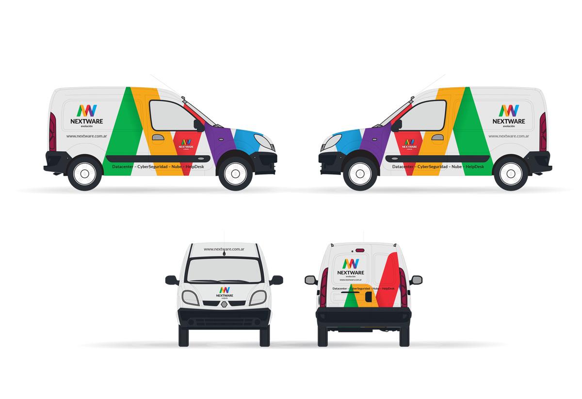 nextware vehiculo. Plotter, apicaciones de marca