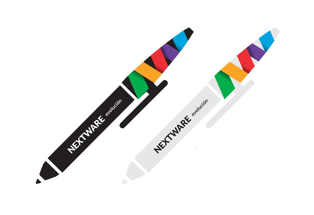 nextware-lapicera. Aplicaciones de marca