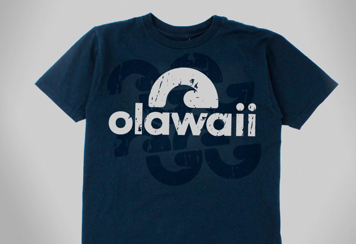 Remera Olawaii. Aplicaciones de marca