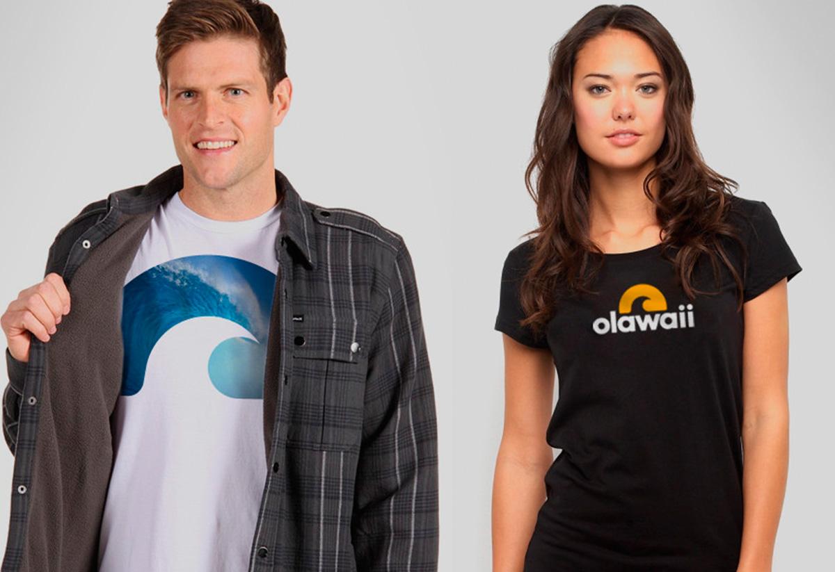 Remeras hombre y mujer, diseño, Olawaii