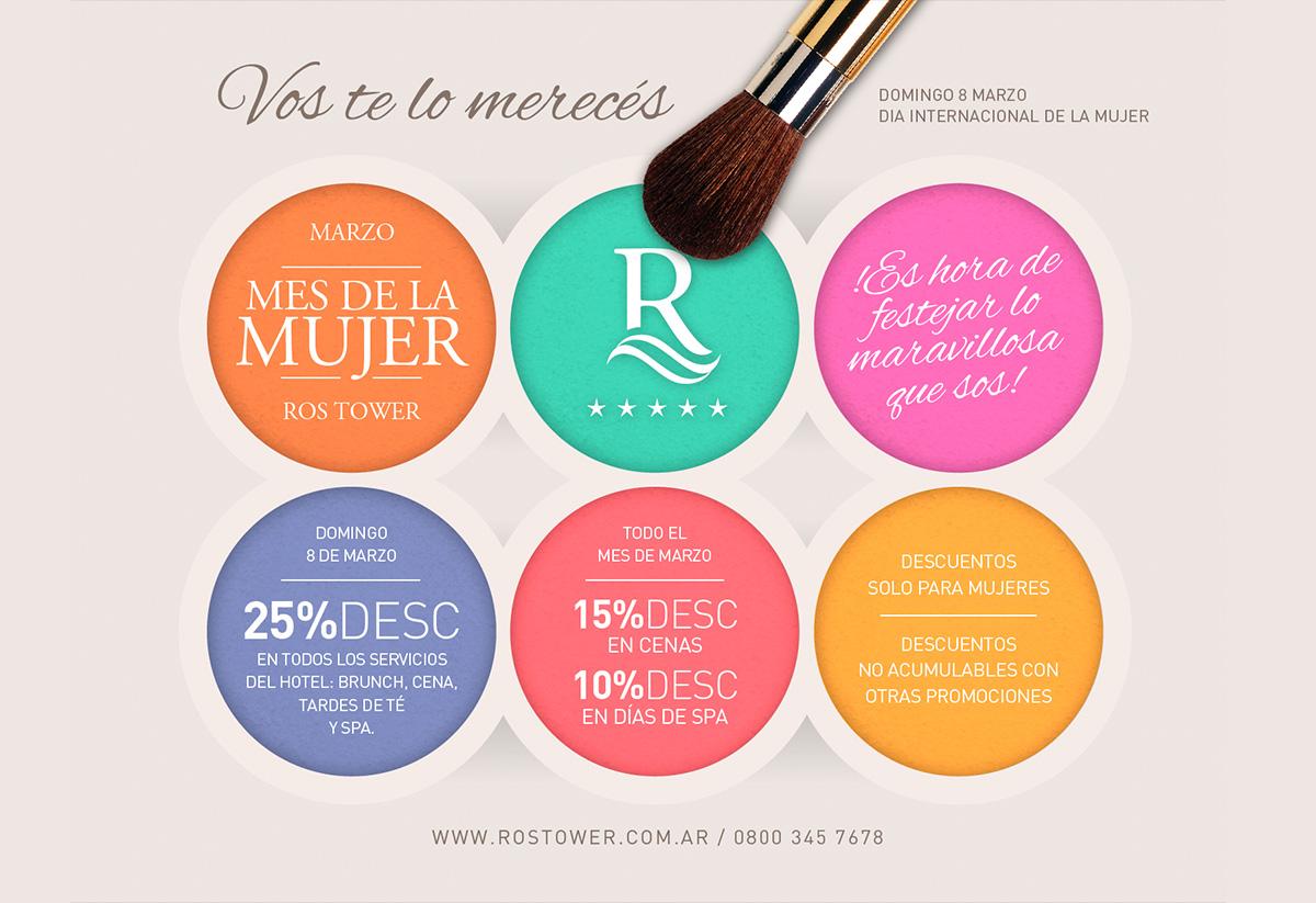 Rostower promoción mes de la mujer. Marketing