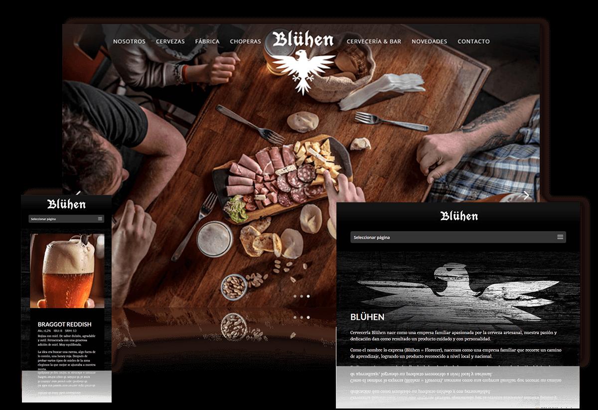 Bluhen, rediseño de identidad y desarrollo web