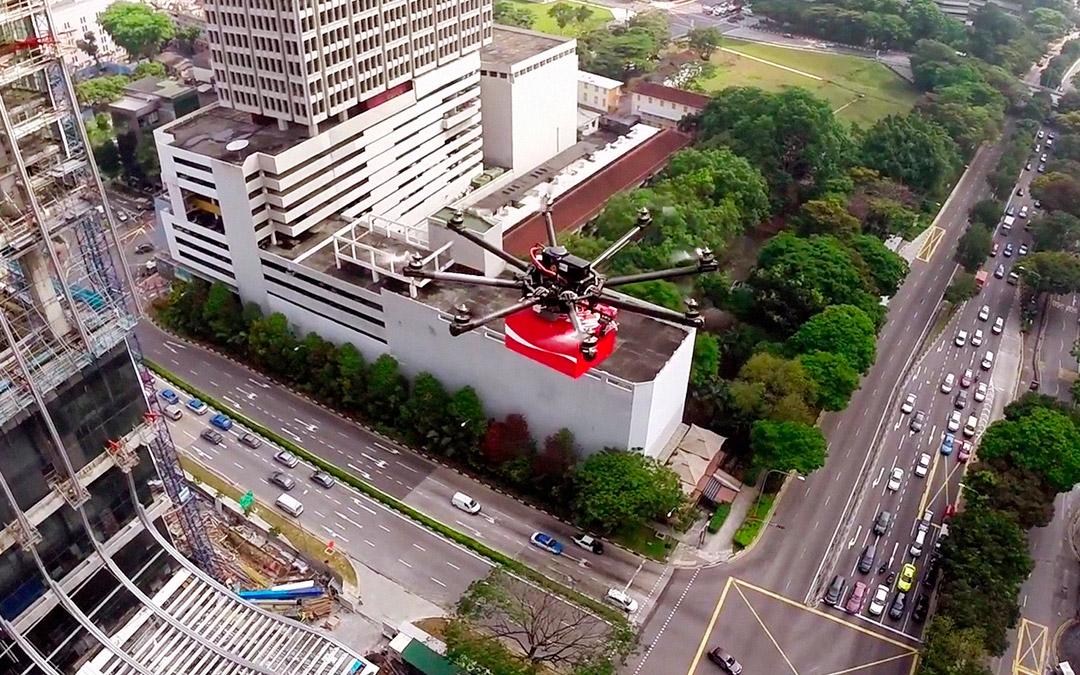 Drone Coca Cola corporativo