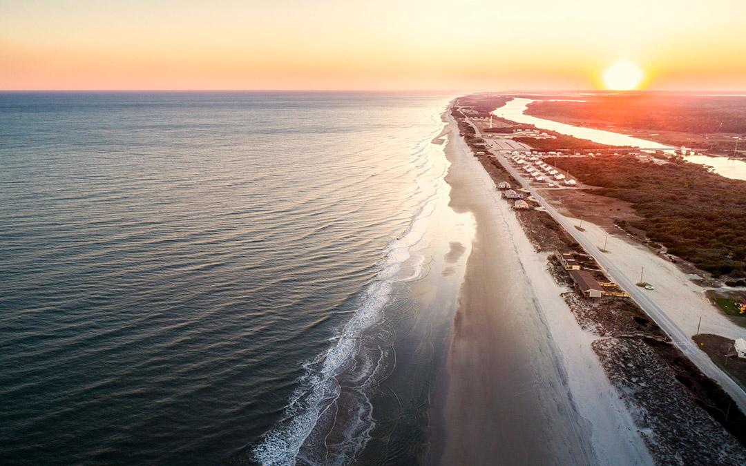 Drone vista costera