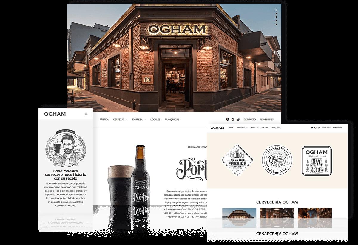 Desarrollo de Sitio Web Cerveza Ogham
