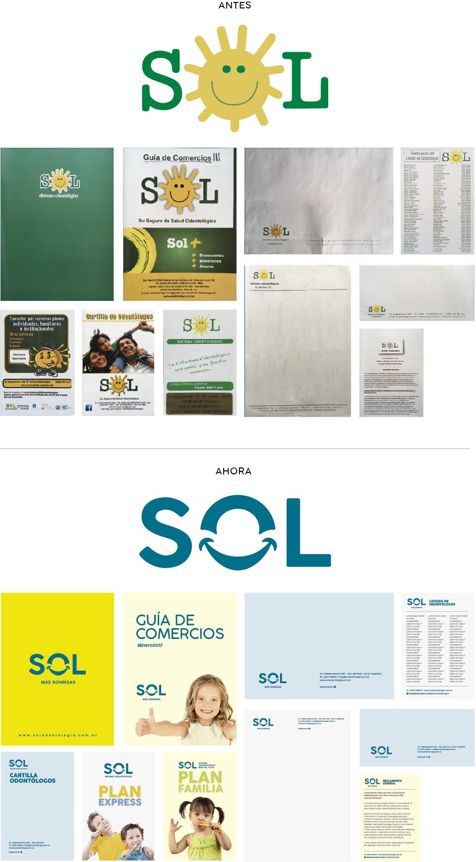Restyling de marca Sol Odontología