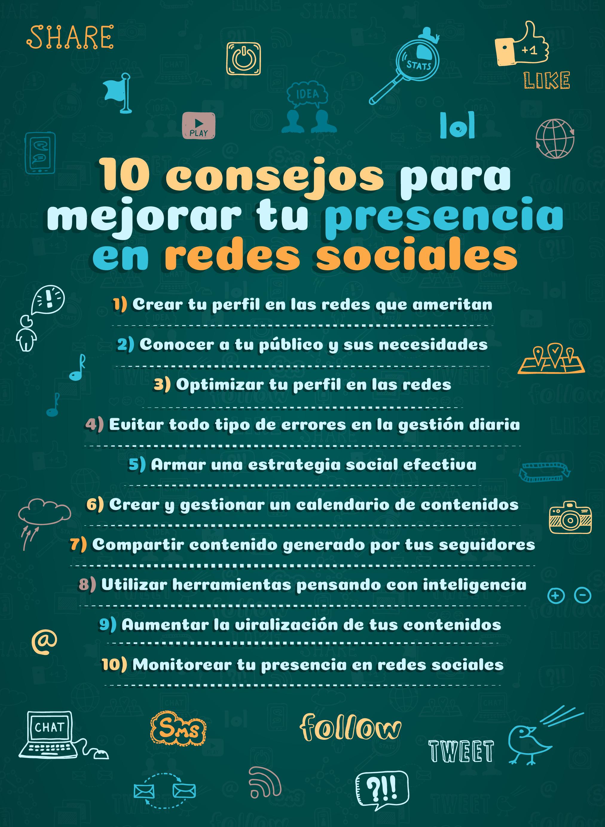10 consejos para mejorar tu presencia en redes sociales