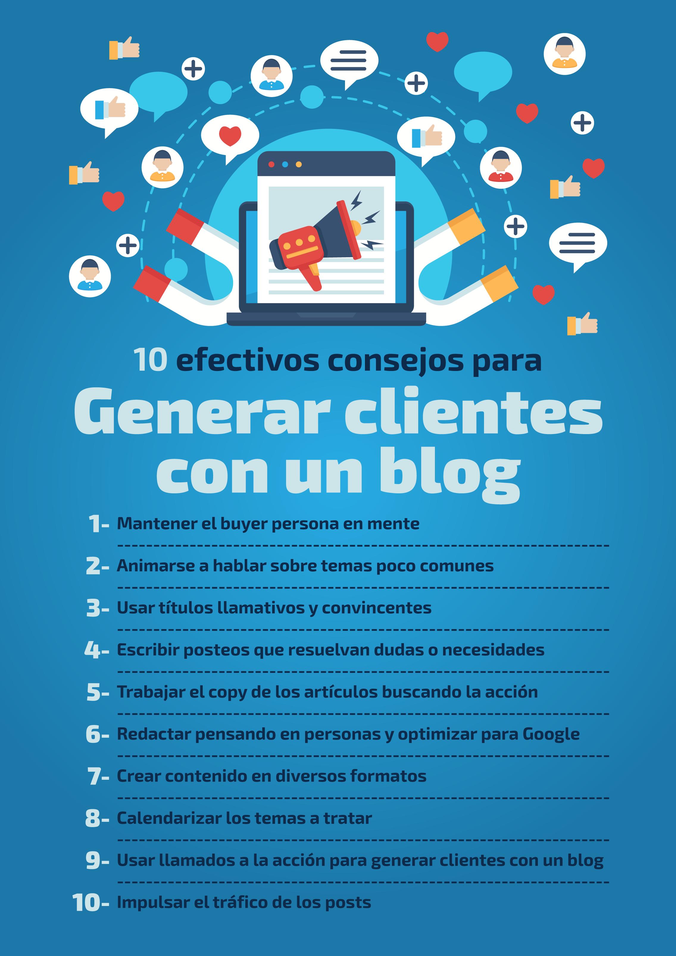 10 consejos infalibles para generar clientes con un blog